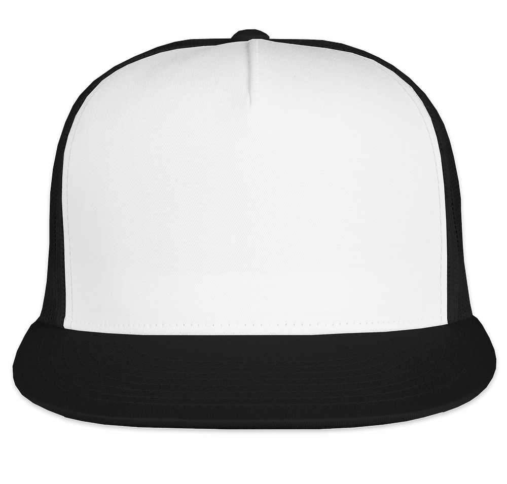 Yupoong Classic Trucker Hat - Black / White Design Custom Printed Hats Online at CustomInk